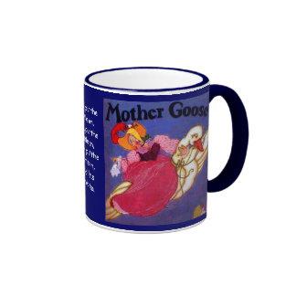 Mother Goose drinking cup Ringer Mug