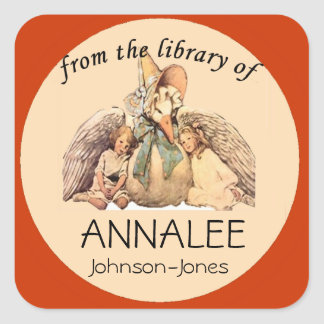 Mother Goose From the Library of Bookplate Square Sticker