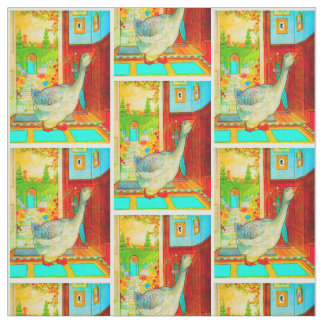 Mother Goose in the House Nursery Rhyme Fabric