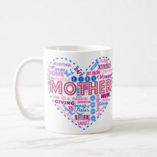 Mother Heart Word Art Mug