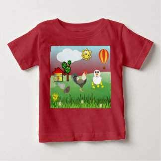 MOTHER HEN AND BABY CHICKS Infant T-Shirt
