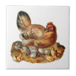 Mother Hen and Chicks Tile