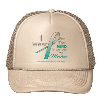Mother - Hero in My Life - Cervical Cancer Trucker Hat