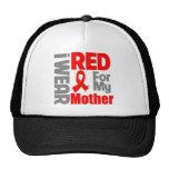 Mother - I Wear Red Ribbon Trucker Hat