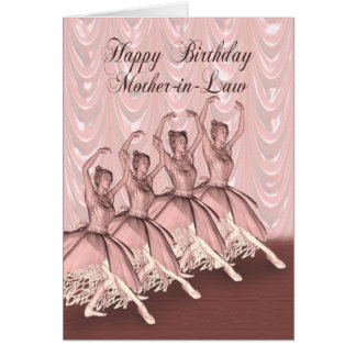 Mother-in-Law, a ballerina birthday card