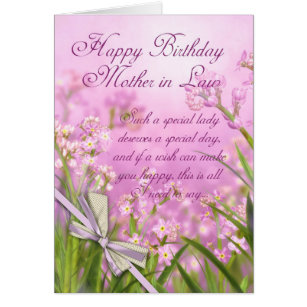 Mother in law birthday cards invitations zazzle mother in law birthday card pink feminine floral bookmarktalkfo Gallery