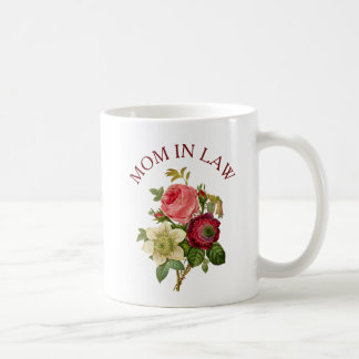 Mother in Law Burgundy Pink Rose Bouquet Mug