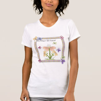Mother-In-Law Butterfly Flower Mothers Day Gifts T-Shirt
