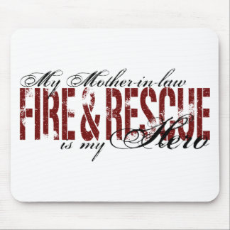 Mother-in-law Hero - Fire & Rescue Mouse Mats