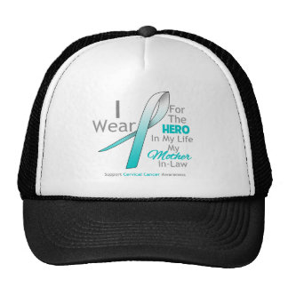 Mother-in-Law - Hero in My Life - Cervical Cancer Trucker Hat