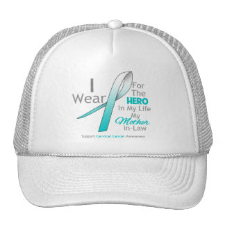 Mother-in-Law - Hero in My Life - Cervical Cancer Mesh Hats