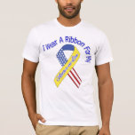 Mother-in-Law - I Wear A Ribbon Military Patriotic T-Shirt