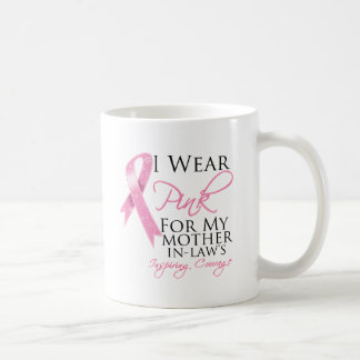 Mother-in-Law Inspiring Courage Breast Cancer Basic White Mug