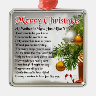 Mother in Law Poem - Christmas design Christmas Ornament