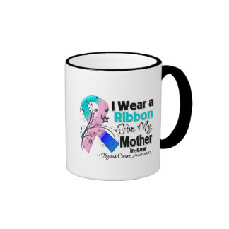 Mother-in-Law - Thyroid Cancer Ribbon Ringer Mug