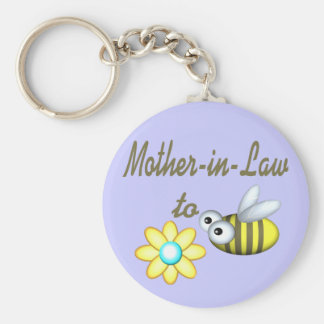 Mother In Law to Bee Basic Round Button Key Ring