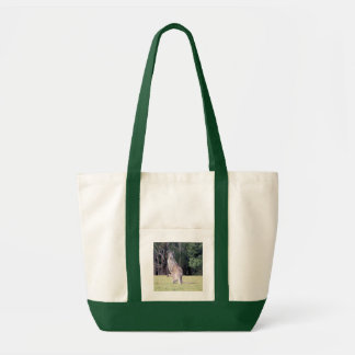 Mother Kangaroo with Baby Joey in Her Pouch Impulse Tote Bag