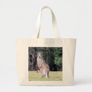 Mother Kangaroo with Baby Joey in Her Pouch Jumbo Tote Bag