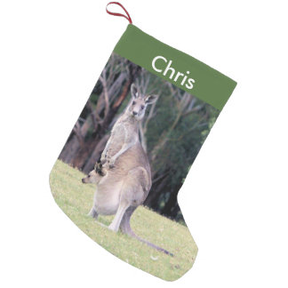 Mother Kangaroo with Baby Joey in Her Pouch Small Christmas Stocking