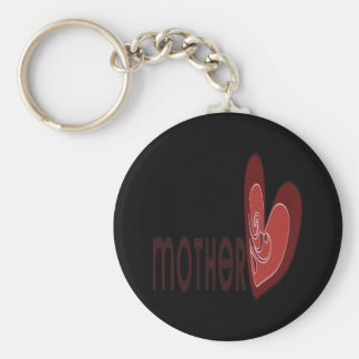 Mother Basic Round Button Key Ring