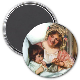 MOTHER KNOWS BEST 7.5 CM ROUND MAGNET