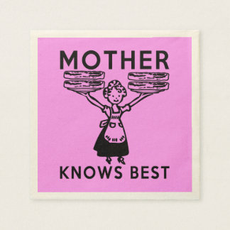 Mother Knows Best: Bacon! Disposable Serviettes