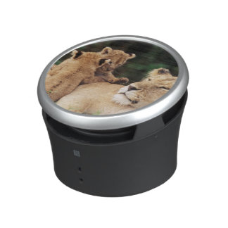 Mother lion with cubs bluetooth speaker