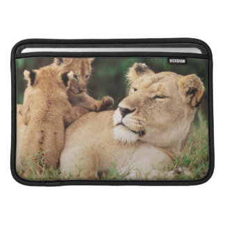 Mother lion with cubs MacBook sleeve