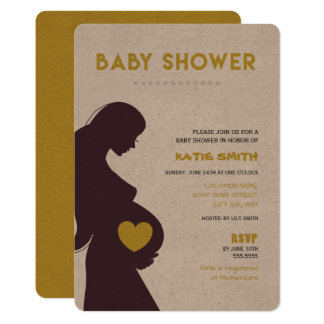Mother Love Green Baby Shower Invitation