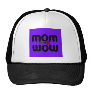Mother Love Mom Wow with Rose Mesh Hats