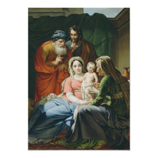 Mother Mary and Baby Jesus 13 Cm X 18 Cm Invitation Card