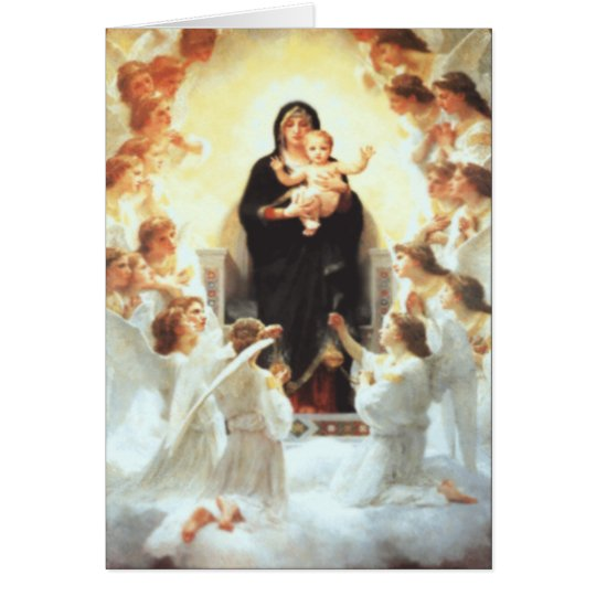 Mother Mary Custom Greetings Card