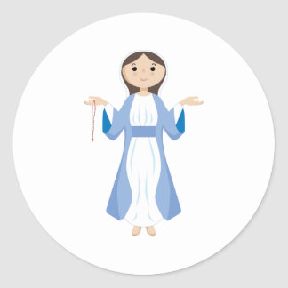 Mother Mary with Rosary Sticker