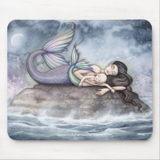 Mother Mermaid and Baby Mousepad by Molly Harrison