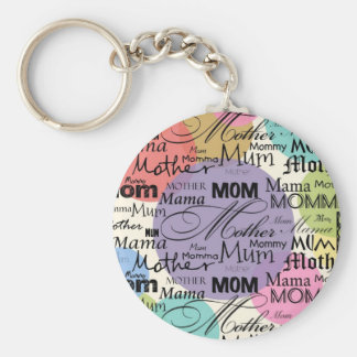 Mother Mom Mum Mama Mommy Basic Round Button Key Ring