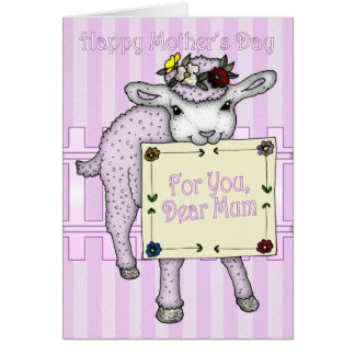 Mother, Mother's Day cute little sheep Greeting Card
