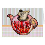 Mother, Mother's Day, Cute Mouse in teapot Greeting Card