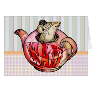 Mother, Mother's Day, Cute Mouse in teapot Card