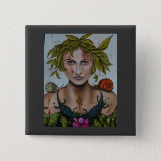 Mother Nature aka Lavina 15 Cm Square Badge