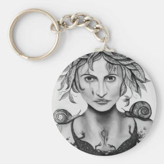 Mother Nature in B/W Key Ring