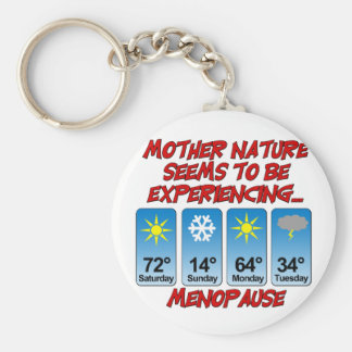 Mother Nature Menopause png Keychain