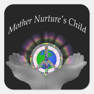 Mother Nurture's Child Square Stickers
