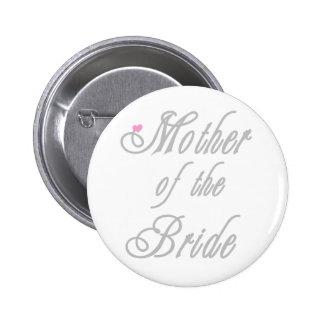 Mother of Bride Classy  Grays 6 Cm Round Badge