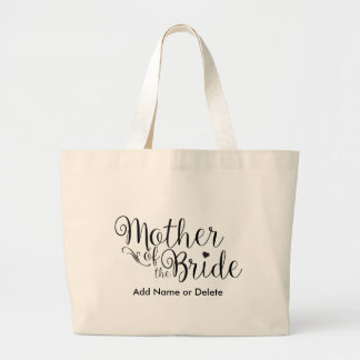 Mother of Bride Large Tote Canvas Tote Bag