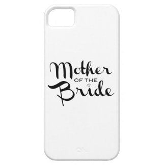 Mother of Bride Retro Script Black on White iPhone 5 Cover