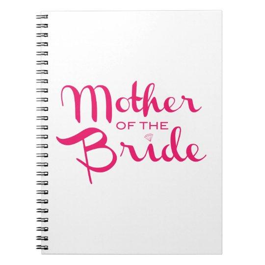 Mother of Bride Retro Script Hot Pink On