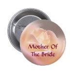 Mother Of Bride Rose Flower Wedding Button