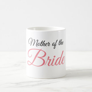 Mother of Bride Script Pink Coffee Mug
