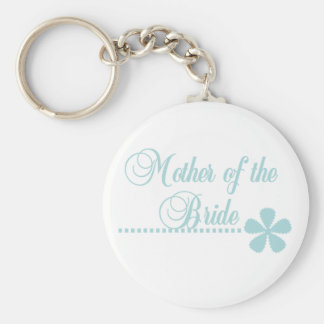 Mother of Bride Teal Elegance Basic Round Button Key Ring