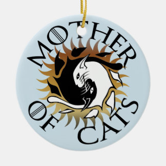 Mother Of Cats Ceramic Ornament